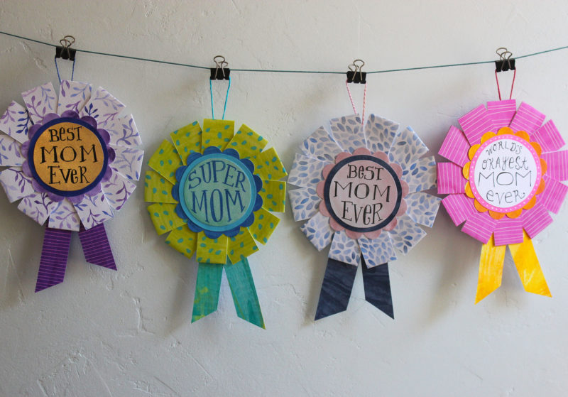 4 award blue ribbons designs for mom