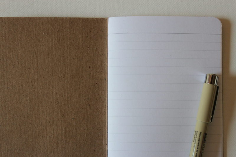 lined pages of notebook