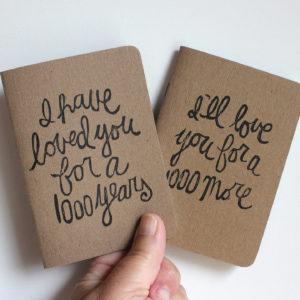 I have loved you for a thousand years pair of wedding vow books
