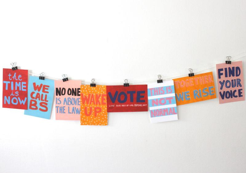 8 printable protest postcards
