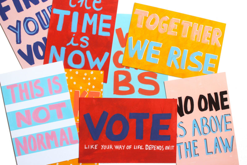 printable protest postcards