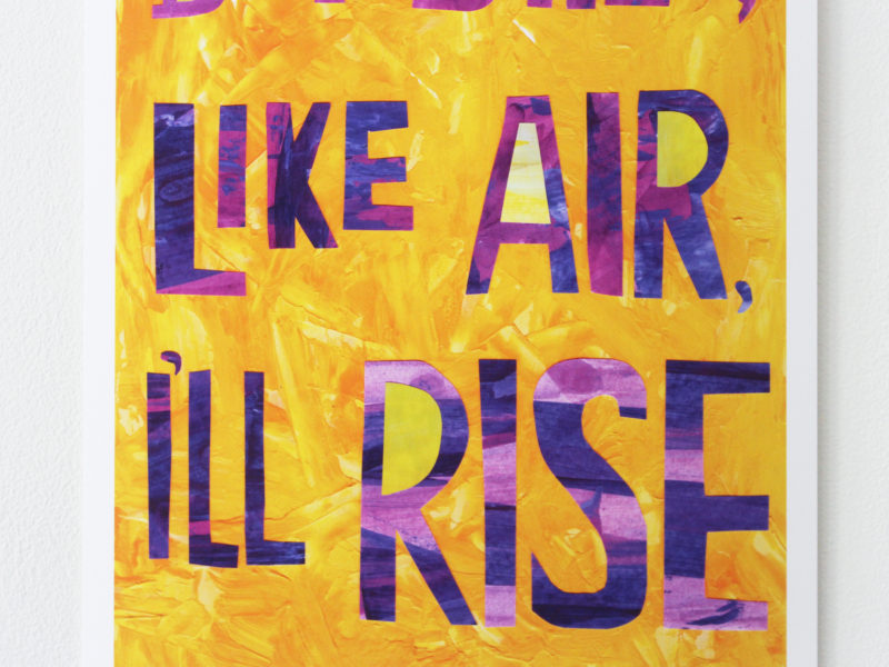 detail of but still like air i'll rise art print