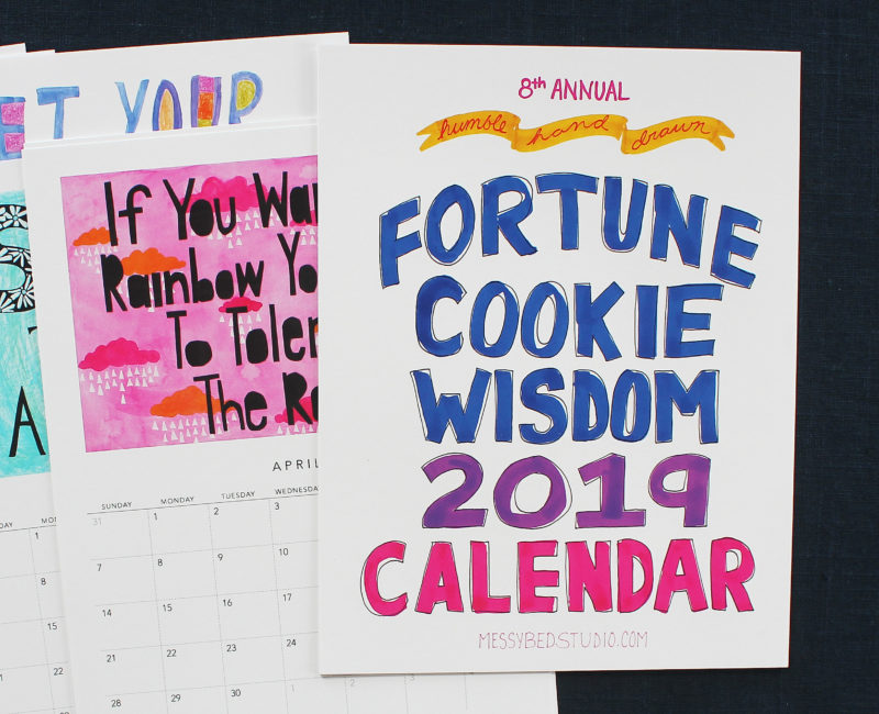 Fortune Cookie Wisdom Wall Calendar 2019
