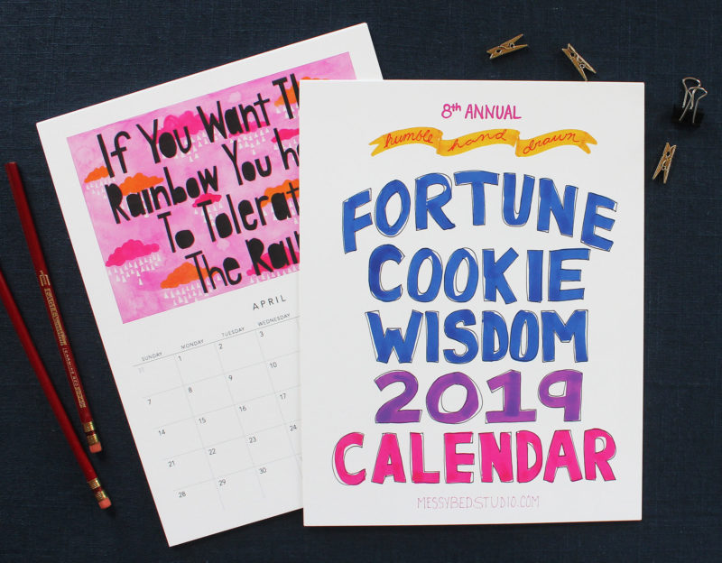 Cover of the 2019 Fortune cookie Wisdom Calendar