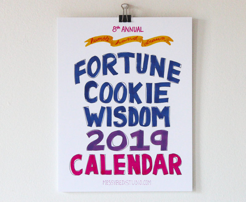 Fortune Cookie Wisdom 2019 wall calendar