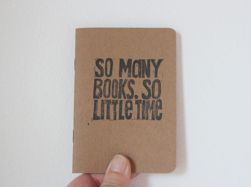 so many books so little time notebook in hand