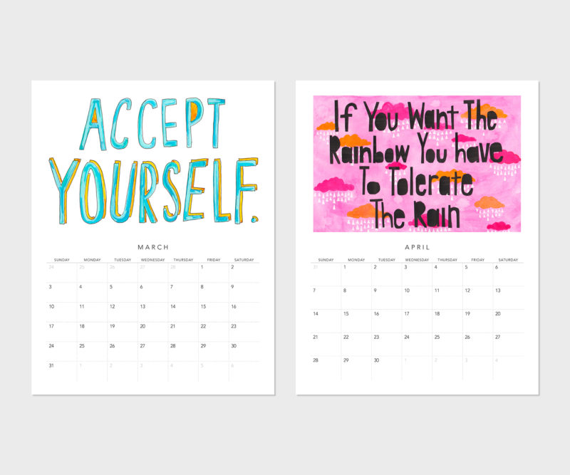 March and April from the Fortune cookie Wisdom Calendar