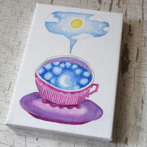 teacup full of sky original painting