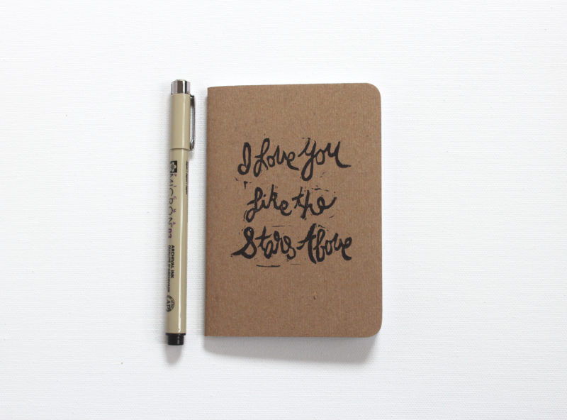 I love you like the stars above wedding vows notebook