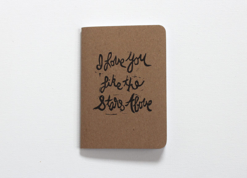 I love you like the stars above vow notebook