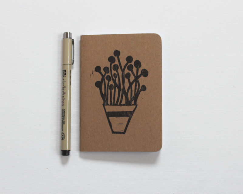 plants in pots small notebook