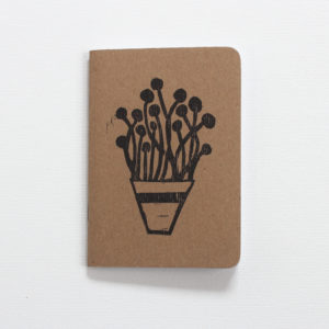 plants in pots hand printed botanical journal