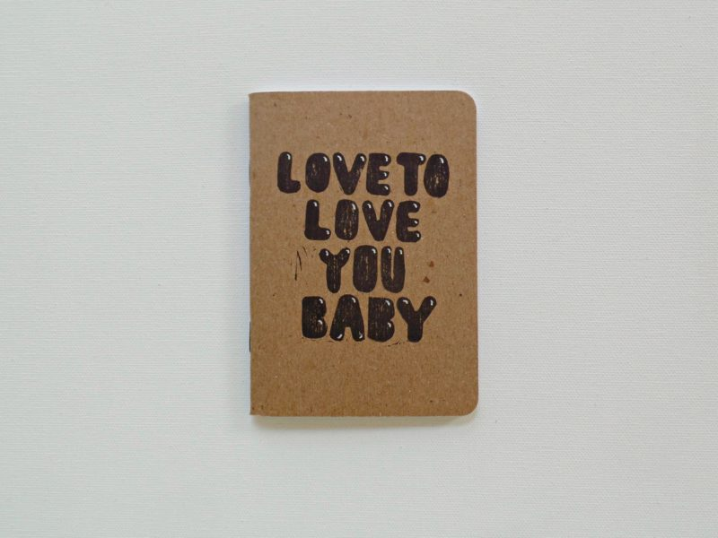 Donna Summer love to love you baby small notebook