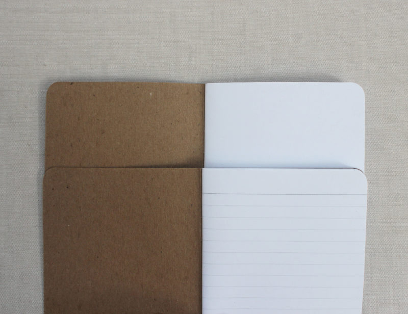 blank and lined interior notebook pages